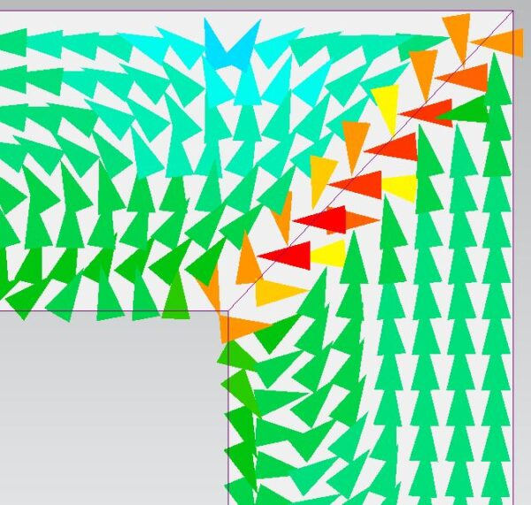 Magnetostriction force density near the joints in Simcenter MAGNET