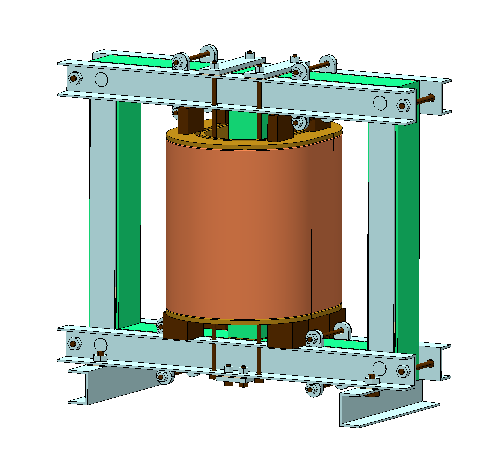 Simcenter MAGNET model of a power transformer