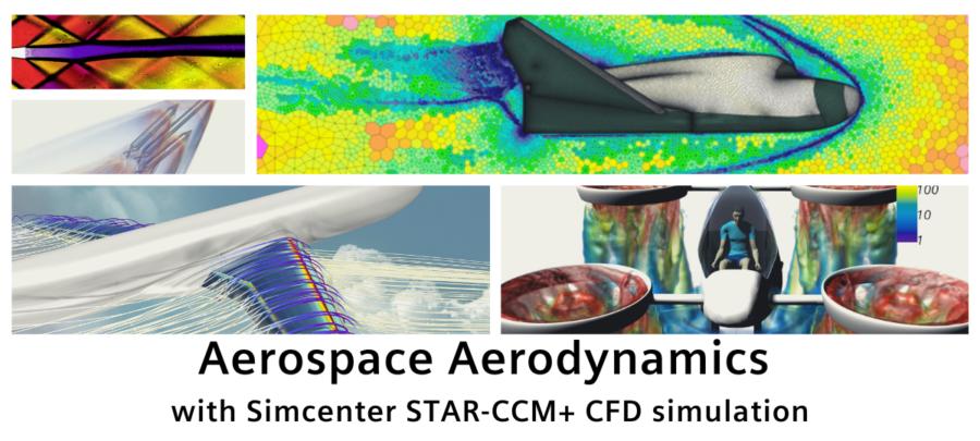 Aerospace Aerodynamics with Simcenter STAR-CCM+ CFD simulation