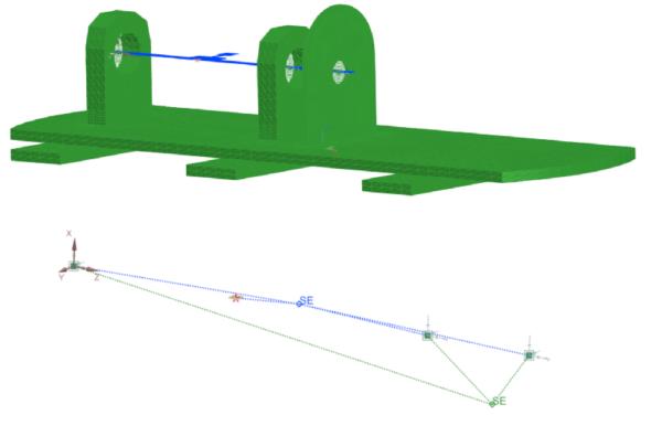 Axisymmetric rotor + superelement representation