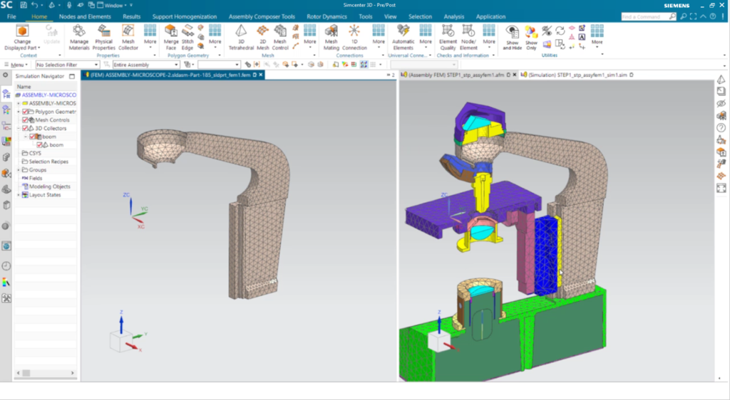 Immediately visualize how changes to an FE component affect the assembly model