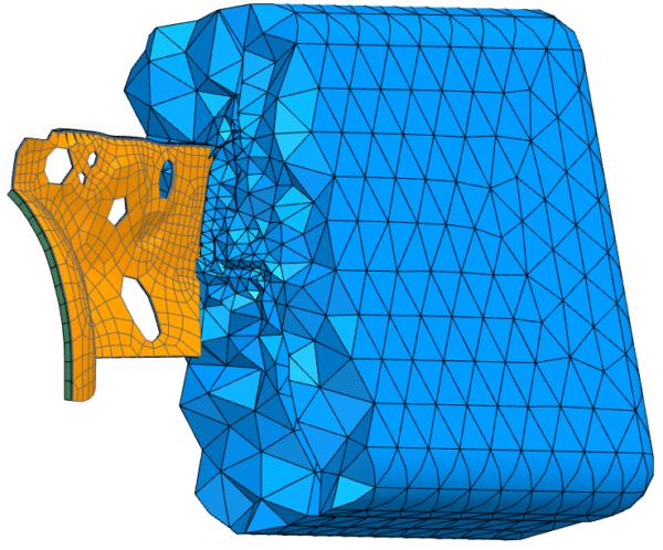 Acoustic trim model including acoustic mesh