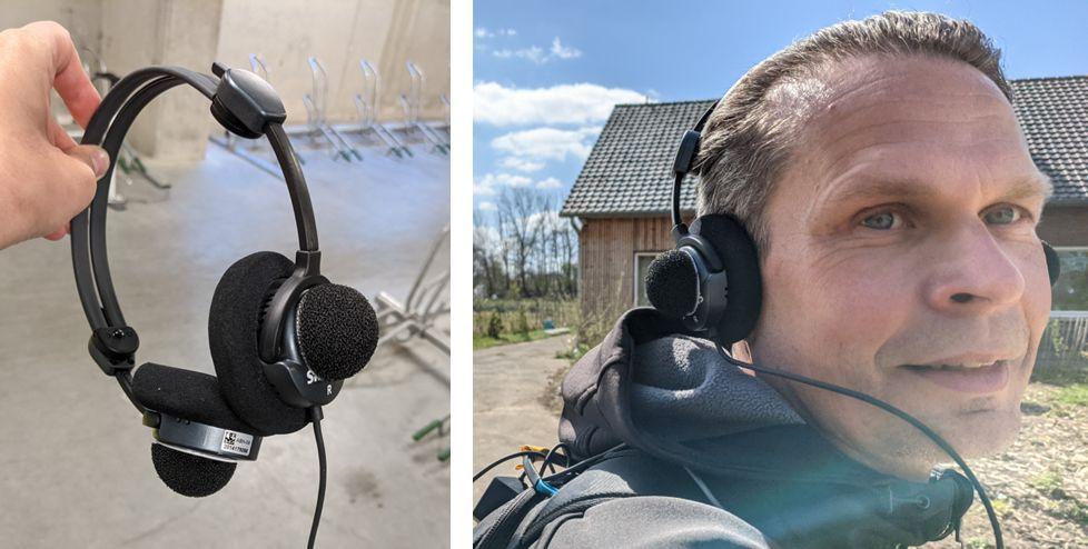 Binaural headset with windcaps