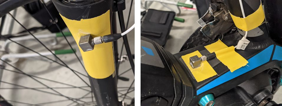 Sensors at the e-bike suspension and electric motor