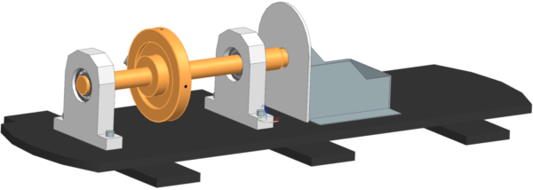 example rotor connected to stator