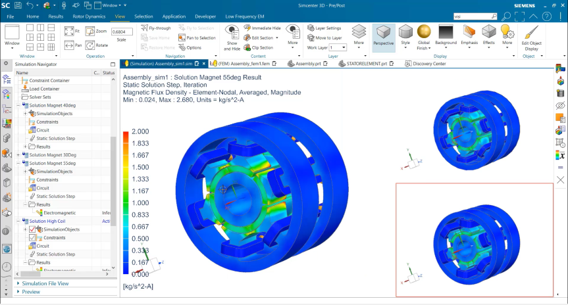 Tighter integration with Simcenter 3D for Low Frequency Electromagnetics