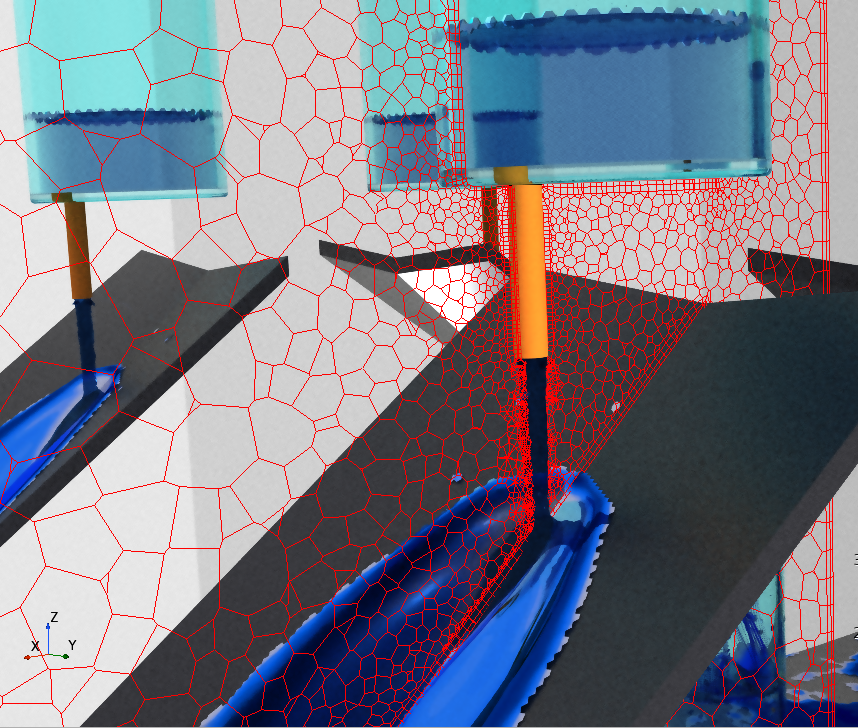 Adaptive Mesh Refinement of Jet for a hybrid multiphase CFD simulation