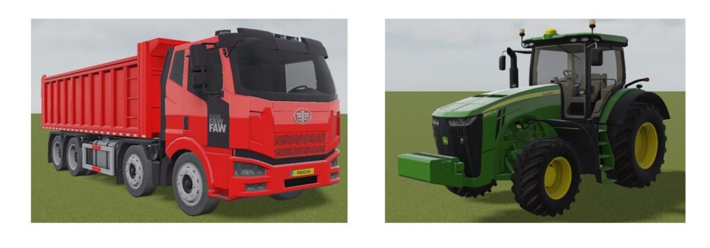 FAW Jiefang J6M and John Deere 8400r have been added.