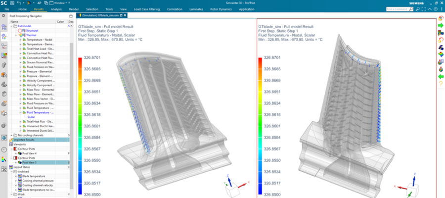 Effective blade cooling with Simcenter 3D 2021.2