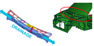 Cowl model for vehicle water management studies