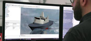 Naval architect using Simcenter STAR-CCM+