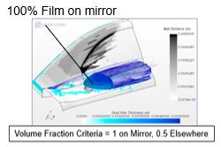 Measuring film on side mirror in Simcenter STAR-CCM+