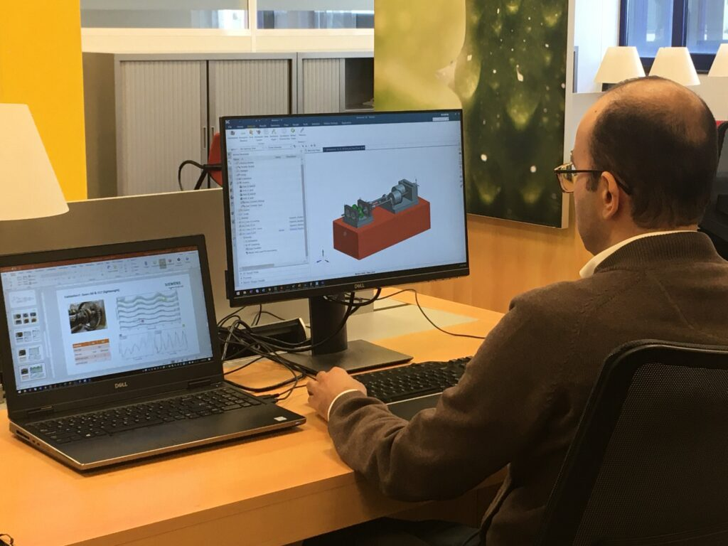 Looking at the digital twin of the test rig