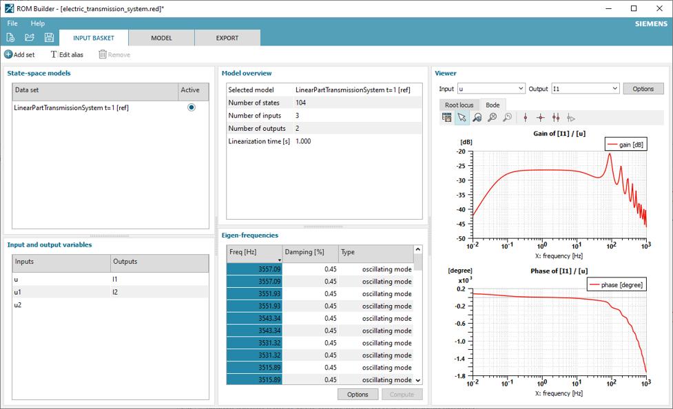 Simcenter Amesim ROM Builder data properties