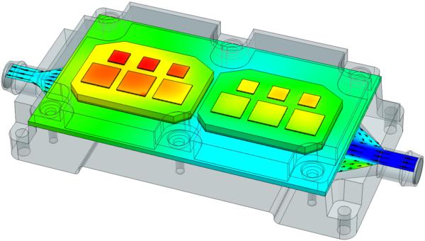 PCB (Print Circuit Board) coldplate model in Simcenter FLOEFD