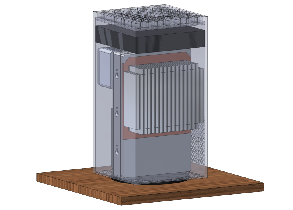 Model used for heat sink comparison