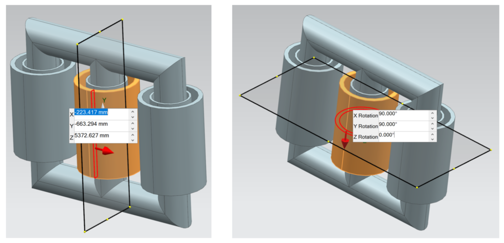 The dynamic rectangle modification settings.