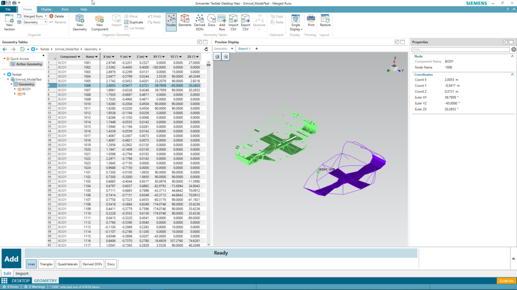 Redefining the test geometry creation process with intuitive interactive import and mesh-to-wireframe reduction tools in Simcenter Testlab Neo