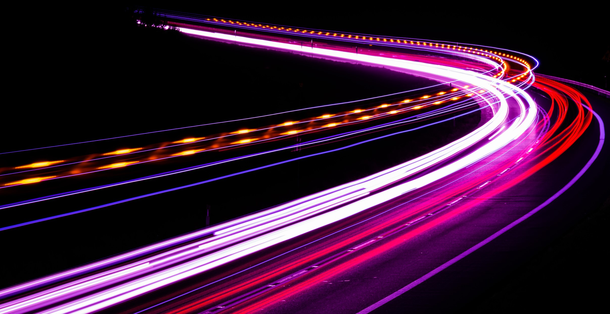 Car lights at night - purple shades