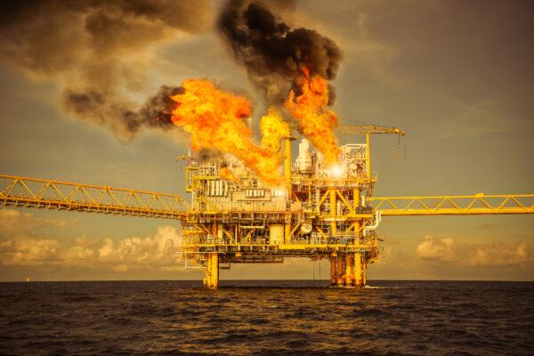 Fires on an offshore oil platform
