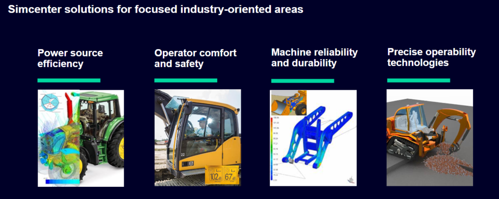 Power source efficiency Operator comfort and safety Machine reliability and durability Precise operability technologies