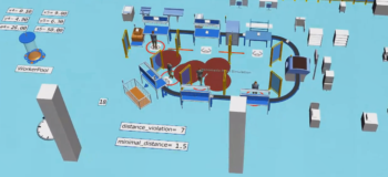 Plant Simulation Software - Social Distancing Library
