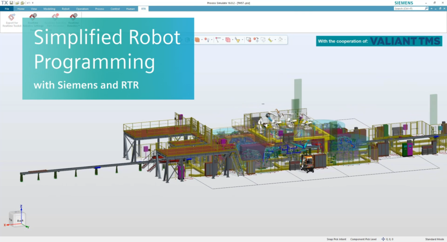 Valiant TMS simplifies robot programming with Siemens and RTR