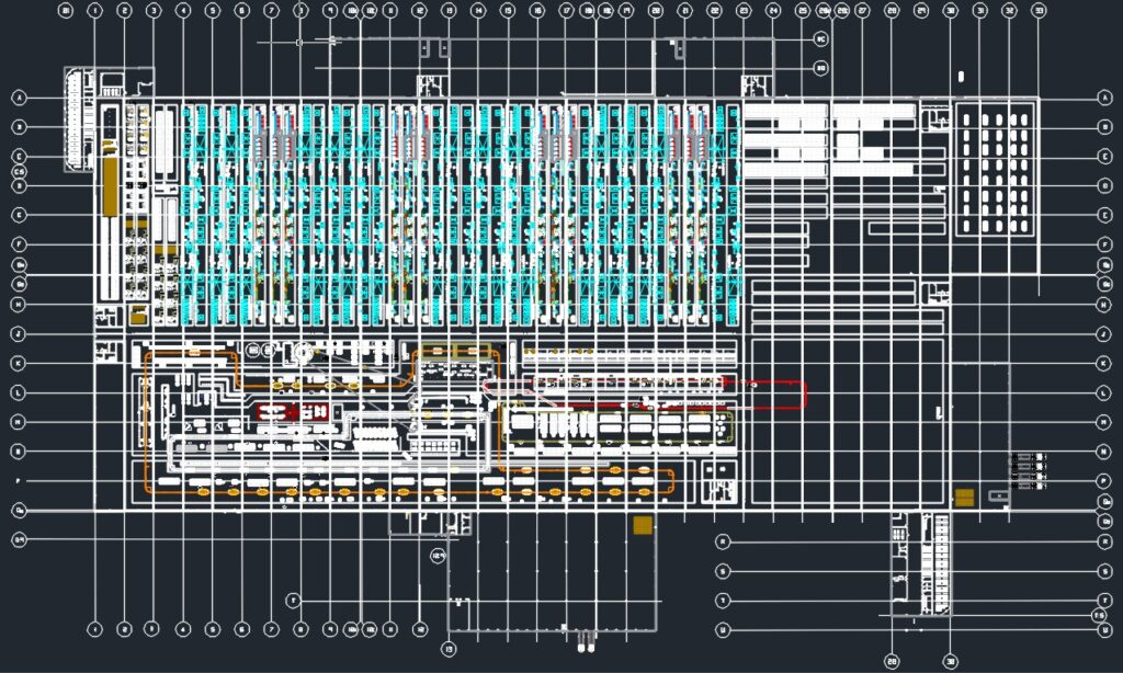 production layout in 2D