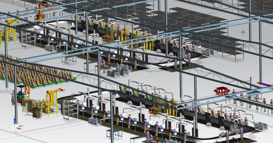 production layout in 3D