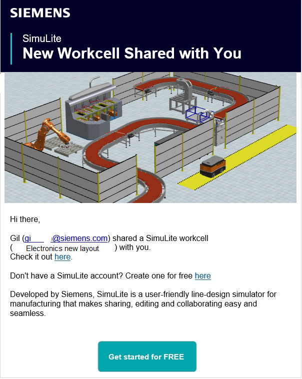 Workcell has been shared