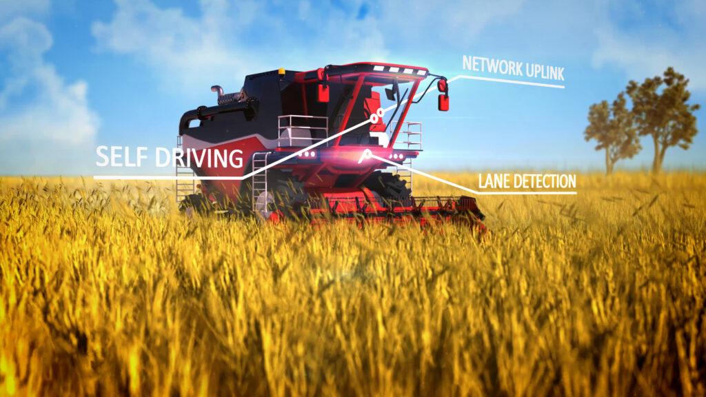 Autonomous combine harvester