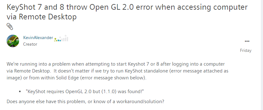 2019-05-01 10_56_23-Re_ KeyShot 7 and 8 throw Open GL 2.0 error when a... - Siemens PLM Community - .png