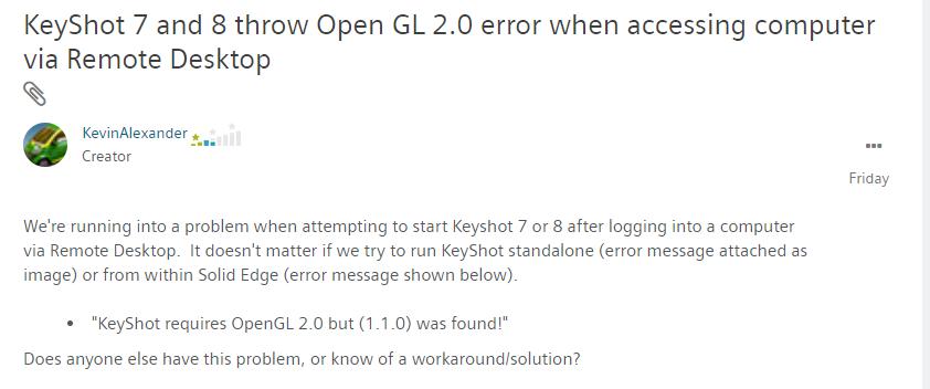 2019-05-01 10_56_23-Re_ KeyShot 7 and 8 throw Open GL 2.0 error when a... - Siemens PLM Community - .png