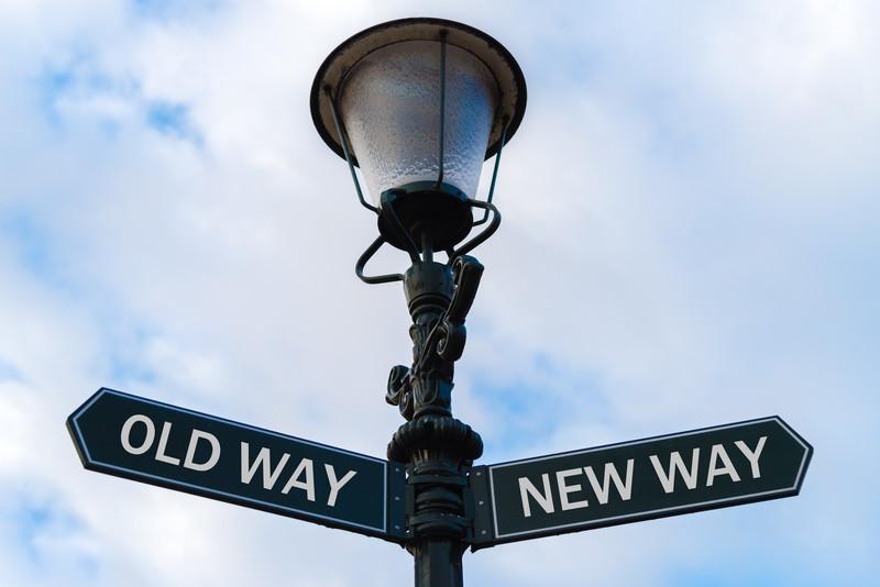 Old Way versus New Way canstockphoto44229199.jpg