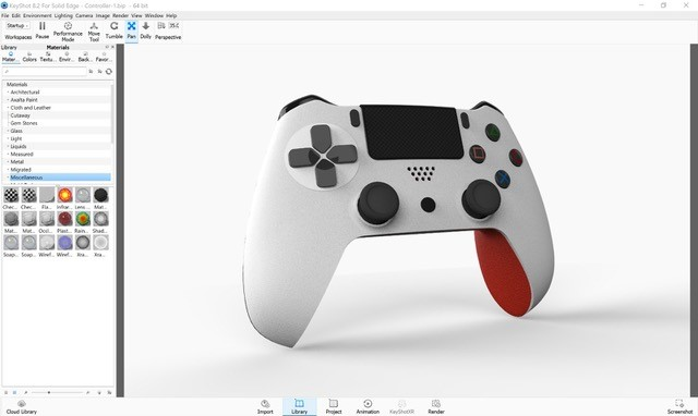 Controller-White-Red
