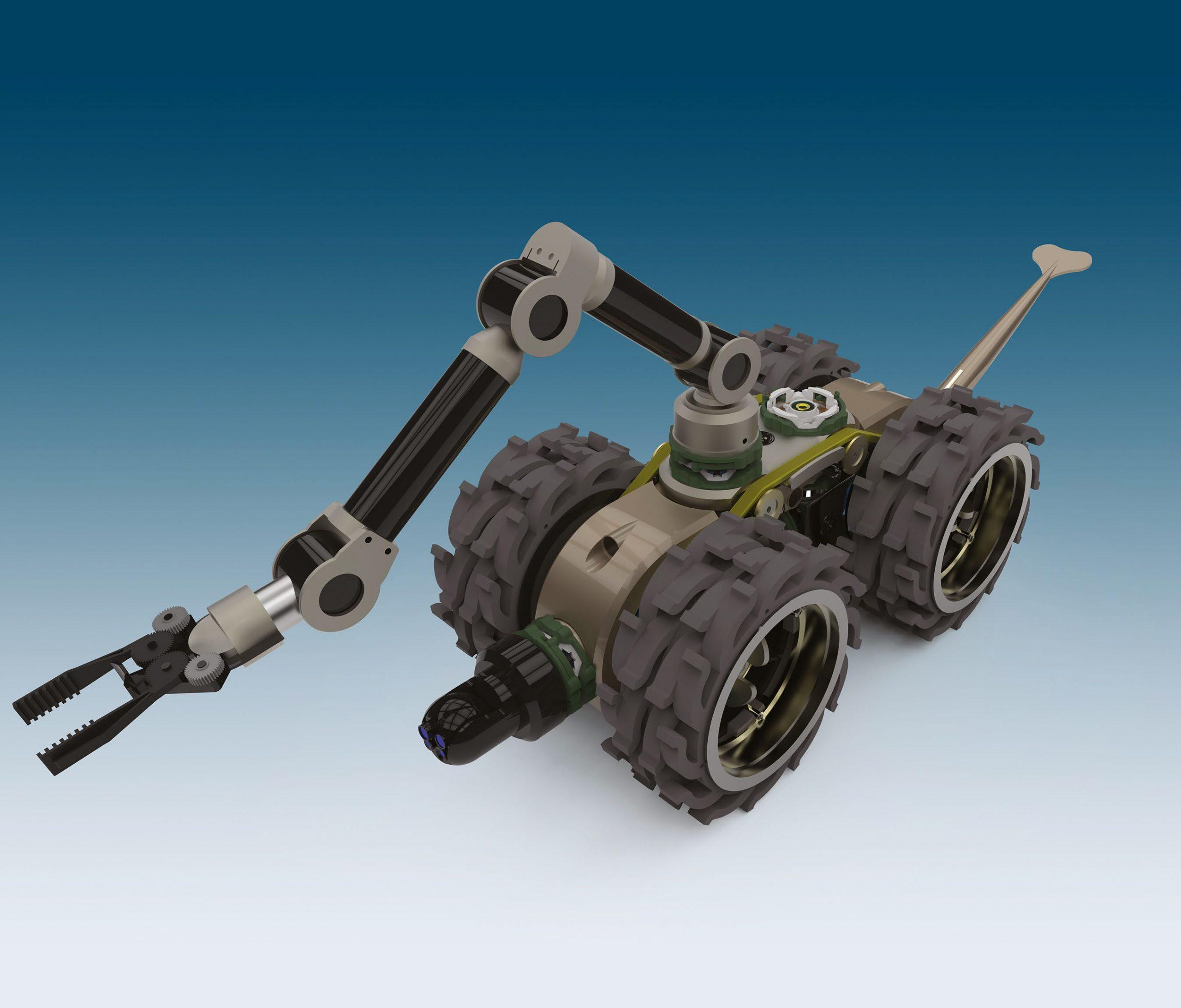Robotic system design in Solid Edge